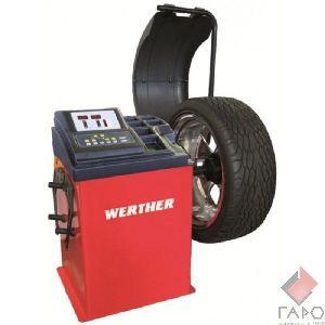 Стенд для балансировки колес полуавтомат 10-24 дюймов WERTHER OLIMP 2500